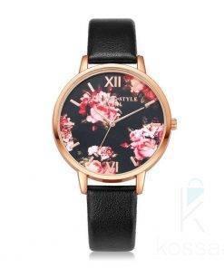 Elegant Floral Dial Women's Wristwatches Watches
