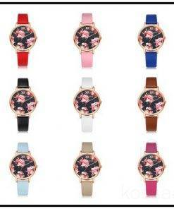 Elegant Floral Dial Women's Wristwatches Watches
