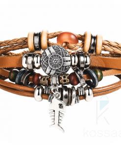 Boho Style Multilayer Leather Men's Bracelet Boho