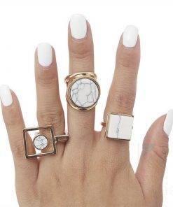Boho Style Marble Rings Boho