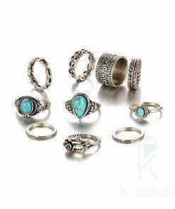 Boho Style Rings Set Boho