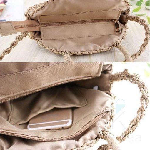 Women's Boho Style Woven Straw Crossbody Bags Boho