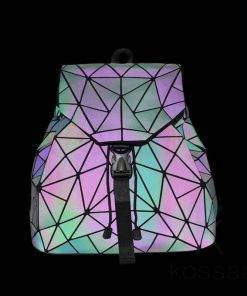 Women's Geometry Pattern Luminous Backpacks Bags