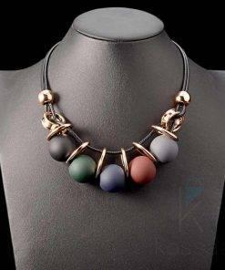 Women's Balls Statement Necklace Necklace