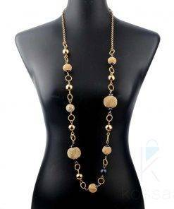 Elegant African Long Crystal Beaded Necklace Necklace