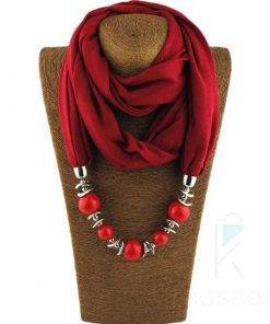 Elegant Beaded Scarf Necklace Necklace