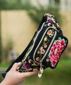 Women's Embroidered Waist Pack Bags