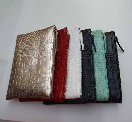 Crocodile Patterned Women's Clutch Bags