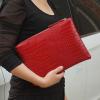 Crocodile Patterned Women's Clutch Bags
