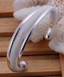 Silver Plated Classic Bangle Bracelet Bracelets