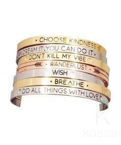 Women's Patterned Rhodium Bracelet Bracelets