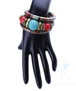 Cute Bohemian Multilayered Colorful Women's Bangle Bracelets