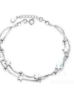 Classic Women's Silver Charm Bracelet Bracelets