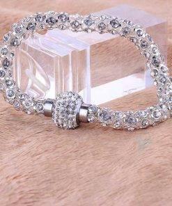 Women's Silver Crystal Bracelet Bracelets