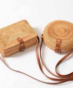 Fashion Summer Round Rattan Bag Wallets