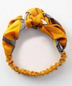 Rayon Colorful Headband with Knot Detail Hair Accessories