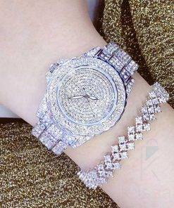 Queen of Diamonds Solid Rhinestone Watches Watches