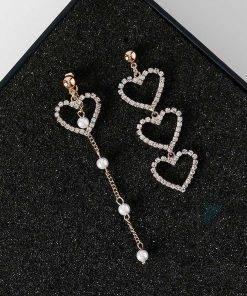 Asymmetric Heart Shaped Drop Earrings for Women Earrings