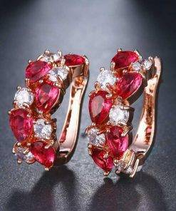 Colorful Rose Gold Earrings Earrings
