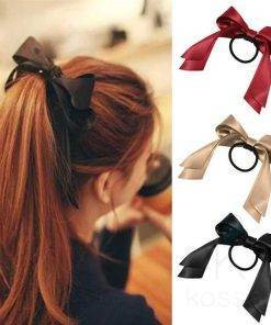 Women's Satin Ribbon Bow Scrunchie Hair Accessories