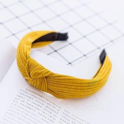 Knitted Women's Hair Band with Knot