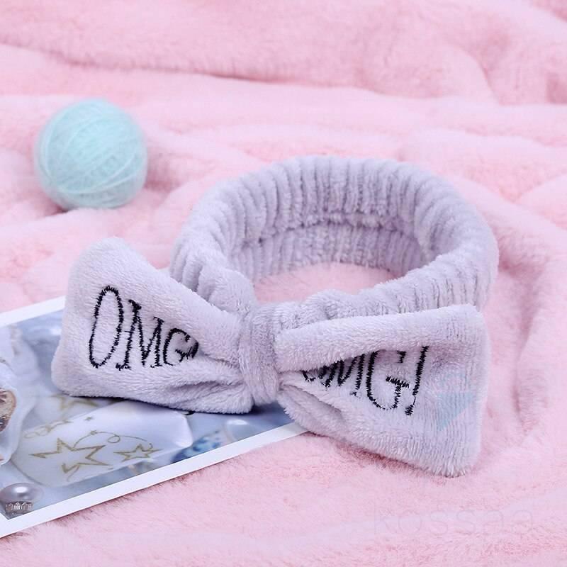 OMG Coral Fleece Bow Headband for Women