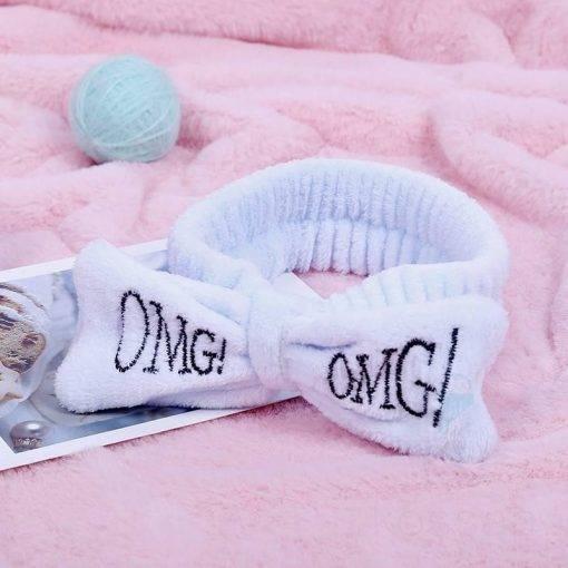 OMG Coral Fleece Bow Headband for Women Hair Accessories