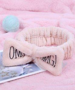 OMG Coral Fleece Bow Headband for Women Hair Accessories