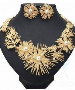 Star Patterned Jewelry Set Earrings