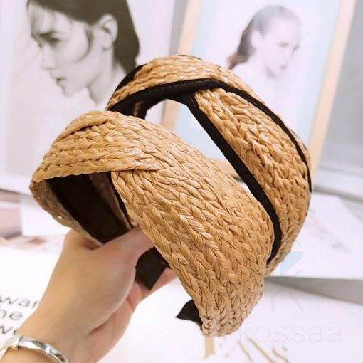 Women's Bohemian Straw Headband Hair Accessories