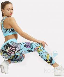 Comics Printed Gym Suit Novelty