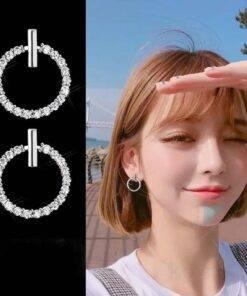 925 Sterling Silver Crystal Rhinestone Stud Earrings Earrings Jewelry
