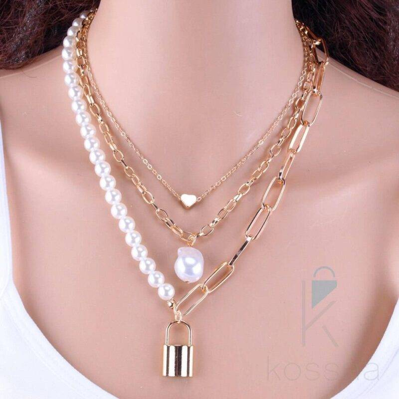 Pearls Decorated Women's Necklace Jewelry Necklace Style: 3